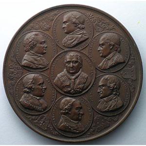 JOUVENEL   Université catholique de Malines   1835   bronze   57mm    SUP
