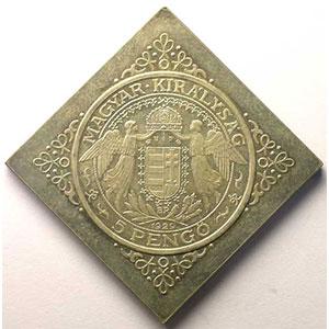 Klippe   5 Pengo   1929   (refrappe 1965)    FDC