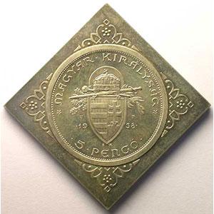 Klippe   5 Pengo   1938   (refrappe 1965)    FDC