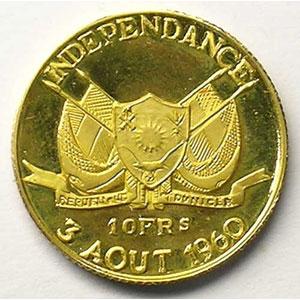KM 1   10 Francs (1960)    BE