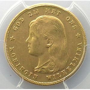 KM 118   10 Gulden   1897    PCGS-MS64    pr.FDC