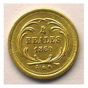 KM 135   4 Reales   1860 R    TTB