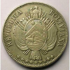 KM 152.1   Boliviano   1864  PTS FP    TTB