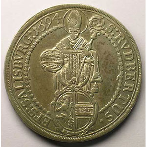KM 254   Thaler   Johann Ernst (1687-1709)   1694    TB+/TTB