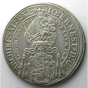 KM 254   Thaler   Johann Ernst (1687-1709)   1696    TTB+