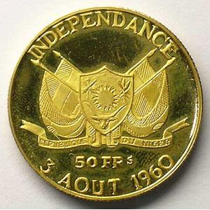 KM 3   50 Francs (1960)    BE