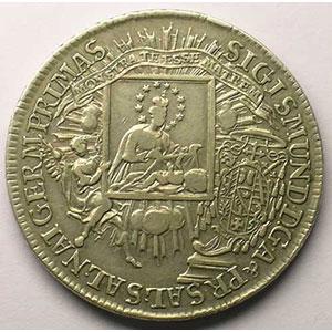KM 391   Thaler   Sigismond III (1753-1771)   1758    TB+/TTB