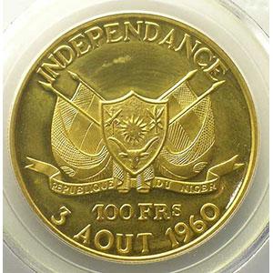 KM 4   100 Francs (1960)    PCGS-PR62CAM   BE