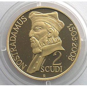 KM 459   2 Scudi   2003   Nostradamus    BE