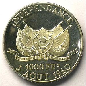 KM 6   1000 Francs (1960)    BE