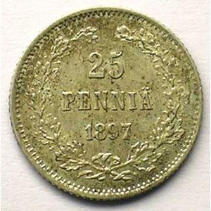 KM 6.2   25 Pennia   1917 L    SUP