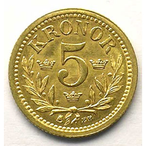 KM 756   5 Kronor   1899 EB    TTB+/SUP