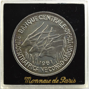 KM E3   50 Francs   1961 Essai    FDC