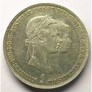 KM M3   2 Gulden   1854 A    TTB