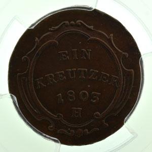 Kreutzer   François II (1792-1805)   1803 H  (Günzburg)    PCGS-AU55    TTB+/SUP