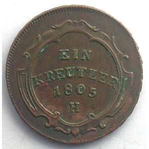 Kreutzer   François II (1792-1805)   1805 H  (Günzburg)    TTB+