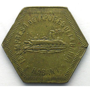 La Havane   3   Lt, hexagonal   25mm    TB+
