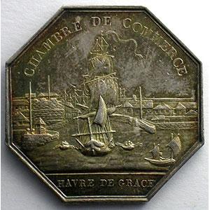 Le Havre   Jeton octogonal en argent   Louis XVIII   1819    SUP/FDC