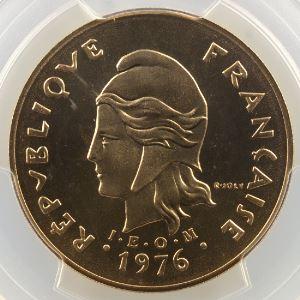 Lec.123   100 Francs  1976 Essai    PCGS-SP68    FDC exceptionnel