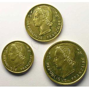 Lec.13, 15, 17   5 Francs, 10 Francs, 25 Francs   1956 Essai    FDC