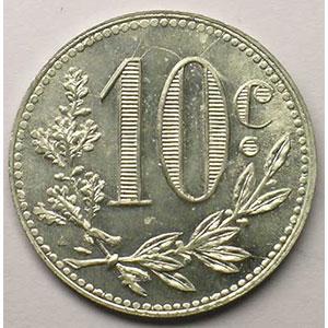 Lec.135   10 Centimes   1916  aluminium    FDC