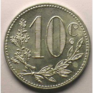 Lec.135a   10 Centimes   1916  aluminium    FDC