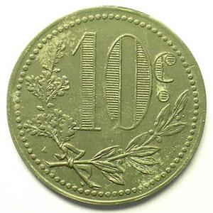 Lec.137   10 Centimes   1917  zinc    TTB+/SUP