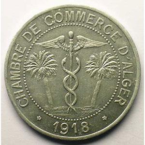 Lec.138   10 Centimes   1918  aluminium    SUP/FDC