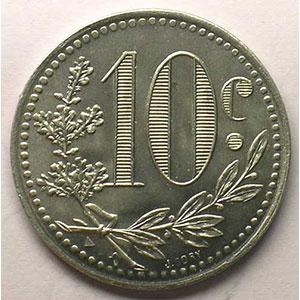 Lec.140   10 Centimes   1919  aluminium    FDC