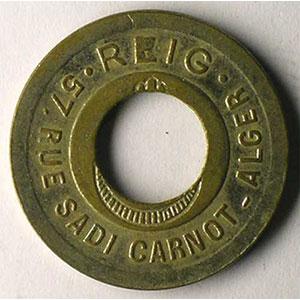Lec. 184 var.   ND maillechort rond, 23 mm, percé    TTB