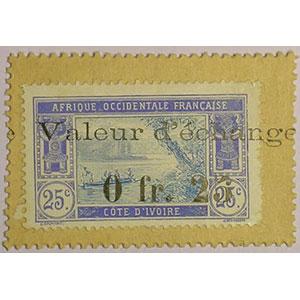 Lec.3   0fr25  valeur d'échange   (1920)    SUP/FDC