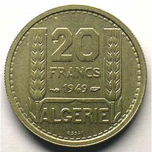 Lec.47   20 Francs   1949 Essai    FDC