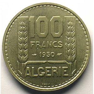 Lec.54   100 Francs   1950 Essai    FDC