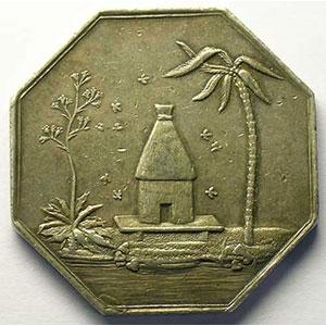 Lec.67   Jeton octogonal en argent   Chambre de Commerce d'Alger    TTB
