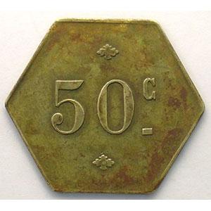 Lec.manque   50 c   Lt, hexag.   26mm    TTB