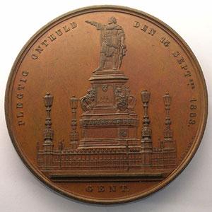 LEMAIRE   Statue de Jakob van Artevelde   14 septembre 1863   Gand / Gent   bronze   70mm    SUP