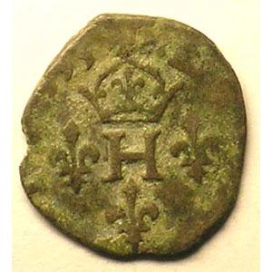 Liard à l'H   Henri IV (1589-1610)   1593   avers    TB+