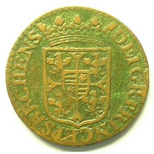 Liard au grand buste   (Charles I de Gonzague 1601-1637)   1614    TB