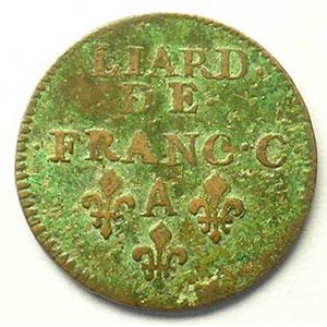 Liard   (Charles II de Gonzague 1637-1659)   1656    TB+