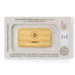 Lingotin 1 once (31.10 g) or 999,9 mill.   C-HAFNER seit 1850  Germany    NEUF sous blister numéroté