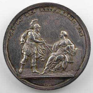 LOOS   Médaille en argent 39mm   Bataille de Copenhague   4 avril 1801    TTB+