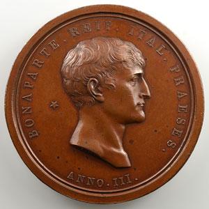 MANFREDINI L.   Attentat à la vie de Bonaparte   Anno III (1800)   bronze   60 mm    SUP