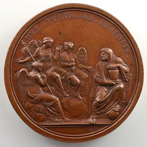 MANFREDINI Luigi   République Cisalpine   An III du Directoire (1797)   Médaille en bronze   60 mm    TTB+/SUP