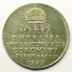 Marie Thérèse d'Autriche   Jeton rond en argent   21mm    SUP