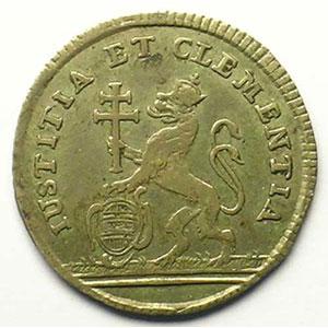 Marie Thérèse d'Autriche   Jeton rond en argent   21mm    TTB