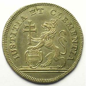 Marie Thérèse d'Autriche   Jeton rond en argent   25,5mm    TTB+/SUP