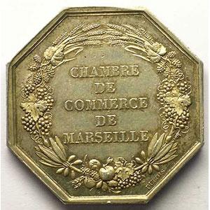 Marseille   jeton octogonal en argent   Louis-Philippe I    SUP