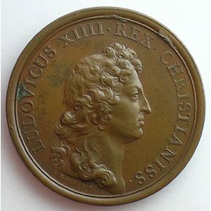 MAUGER/Jean le Blanc   L'assiduité du Roi à ses conseils   bronze   41mm    SUP/FDC