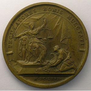MAUGER   La clémence du Roi   bronze   41mm    SUP