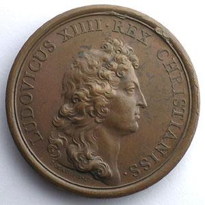 MAUGER   Mort de la Reine Mère   bronze   41mm    SUP